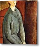 Portrait Of Annie Bjarne Metal Print