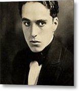 Portrait Of Charlie Chaplin Metal Print