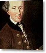 Portrait Of Emmanuel Kant Metal Print