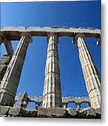 Poseidon Temple Metal Print by George Atsametakis
