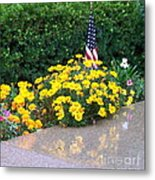 Posies In The Rain Metal Print
