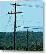 Power Lines 52 Metal Print