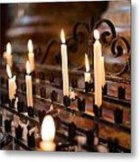 Prayer Candles Metal Print