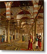 Prayer In The Mosque Metal Print