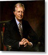 President Jimmy Carter Painting Metal Print