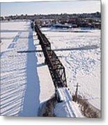 Prince Of Wales Railway Bridge, Ottawa Metal Print