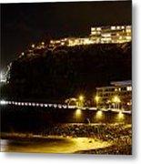 Puerto De La Cruz By Night Metal Print