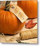 Pumpkins For Thanksgiving Metal Print