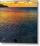 Purple And Orange Sunset Metal Print