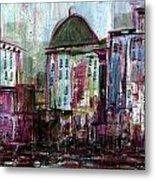 Purple City Metal Print