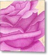 Purple Organdy Rose Metal Print