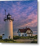 Race Point Lighthouse Sunset Metal Print