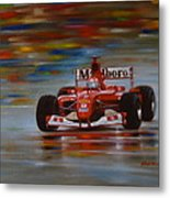 Racing Car Metal Print