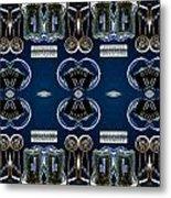 Radio Parts In Blue Metal Print