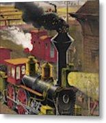 Railroad Junction, C1876 Metal Print