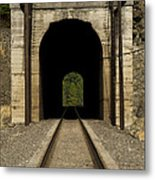 Railroad Tunnel 3 Bnsf 1 B Metal Print