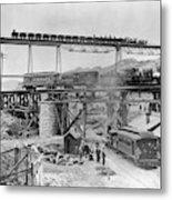 Railroading Construction Metal Print