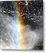 Rainbow And Falls Metal Print