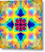 Rainbow Light Mandala Metal Print