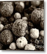 Rainbow Peppercorn Macro Metal Print