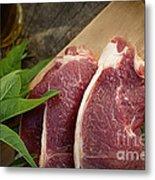 Raw Meat Metal Print