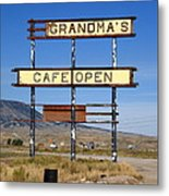 Rawlins Wyoming - Grandma's Cafe Metal Print