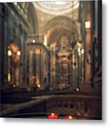 Red Candles Metal Print