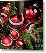 Red Christmas Balls Metal Print