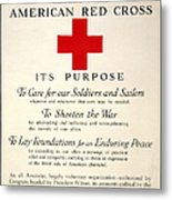 Red Cross Poster, 1917 Metal Print