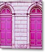 Red Doors Metal Print
