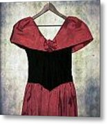 Red Dress Metal Print