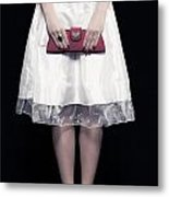 Red Handbag Metal Print
