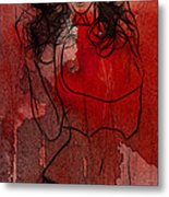 Red Is The Color Of Love Metal Print