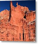 Red Rock Fisher Towers Metal Print