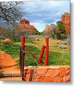 Enter Red Rock Country Metal Print