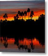 Red Skies  Metal Print