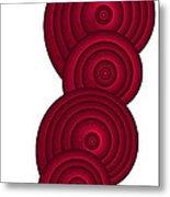 Red Spirals Metal Print by Frank Tschakert
