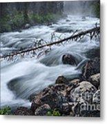 Redfish Creek In Stanley Idaho Metal Print