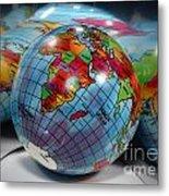 Reflected Globe Metal Print