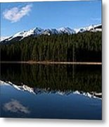 Reflection Bay - Jasper, Alberta - Panorama Metal Print