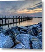 Rehoboth Bay Sunset Metal Print