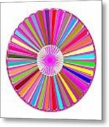 Colorful Signature Art Chakra Round Mandala By Navinjoshi At Fineartamerica.com Rare Fineart Images  Metal Print by Navin Joshi