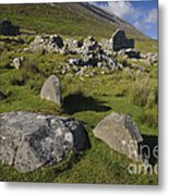 Remains Of Slievemore Village Metal Print