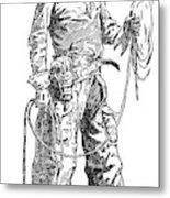Remington Cowboy, 1887 Metal Print