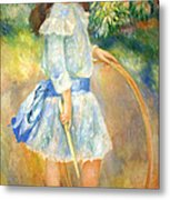 Renoir's Girl With A Hoop Metal Print
