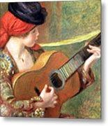 Renoir's Young Spanish Woman With A Guitar Metal Print