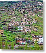 Residents Moved From Homes In Cliffs To Homes Below In 1951 In Cappadocia-turkey Metal Print