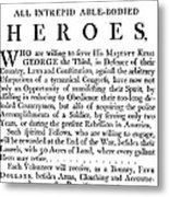 Revolutionary War Poster Metal Print