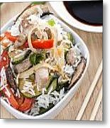 Rice With Mixed Vegetables Metal Print