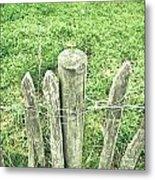 Rickety Fence Metal Print